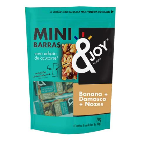 Pouch Mini Barras de Nuts Zero Banana, Damasco e Nozes 70g - Agtal &Joy