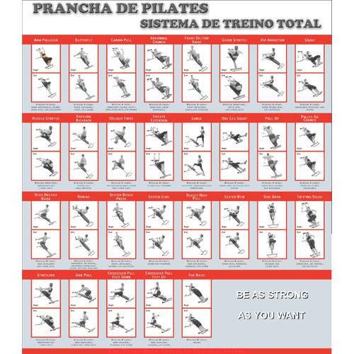 Prancha de Pilates, Sistema de Treinamento Total, Cor Preto e Laranja - O'neal