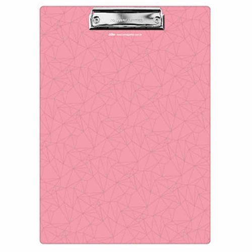 Prancheta Pink Stone A4 Geométrica Ótima 1025955