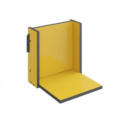 Prateleira 29,5cm Mov Be Mobiliário Amarelo