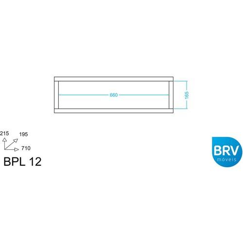Prateleira MDP BPL Branca (21,5x71x19,5cm) - BRV