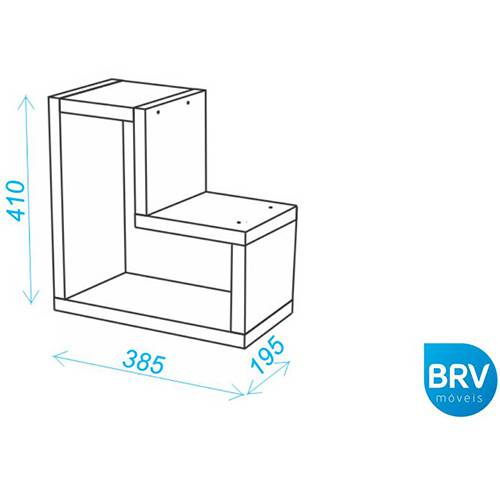 Prateleira MDP BPL Branca (10,3x19,5x42,5cm) - BRV