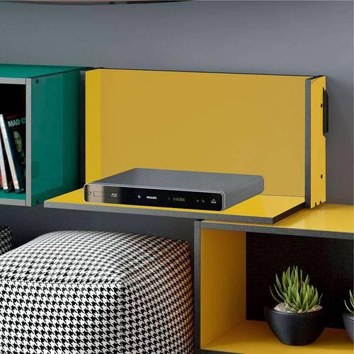 Prateleira Mov – Be Mobiliário - Amarelo / Carbono