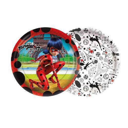 Prato 18cm Ladybug 8 Unidades