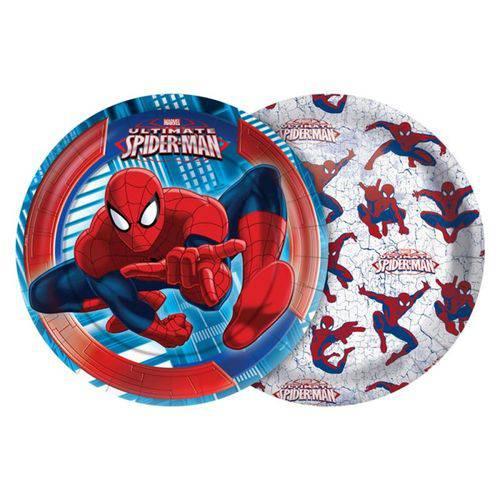 Prato 18cm Ultimate Spider Man - 08 Unidades
