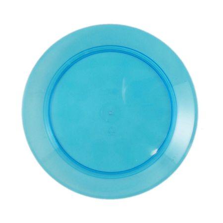 Prato Acrílico Redondo 15cm Azul - 10 Unidades
