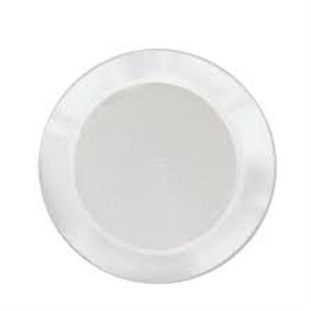 Prato Acrílico Redondo 15cm Branco - 10 Unidades