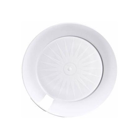 Prato Acrílico Redondo 22cm Branco - 10 Unidades