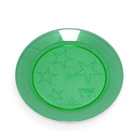 Prato Acrílico Redondo 22cm Verde Escuro - 10 Unidades