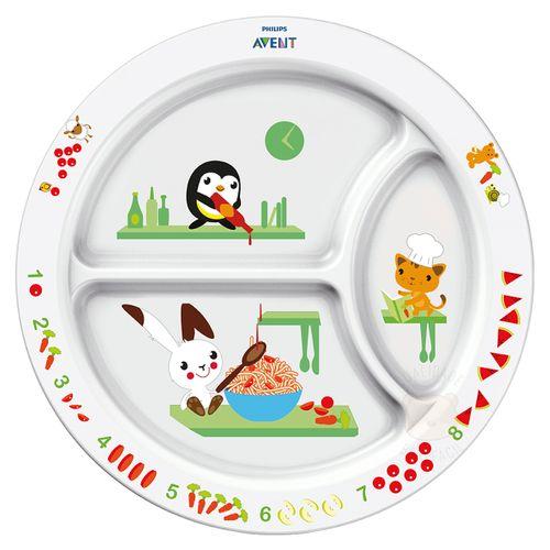 Prato com Divisórias para Bebê Animais (12m+) - Philips Avent SCF702/00 PRATO AVENT C/DIVISORIA (12M+)