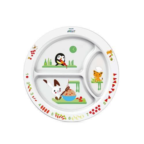 Prato de Alimentação Infantil com Divisória Avent 12m