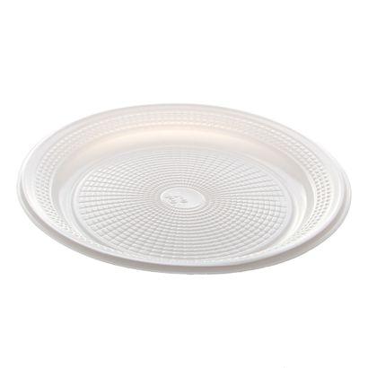 Prato de Plástico Descartável Branco Ø 20cm com 10 Unidades Trik Trik