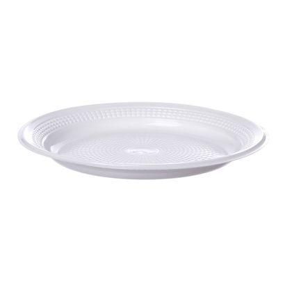 Prato de Plástico Descartável Branco Ø 15cm com 10 Unidades Trik Trik