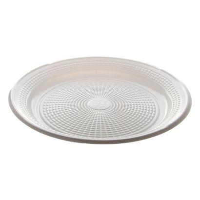 Prato de Plástico Descartável Branco Ø 25cm com 10 Unidades Trik Trik
