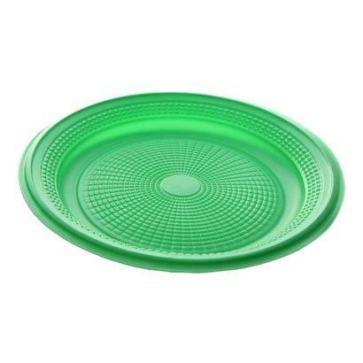 Prato de Plástico Descartável Verde Escuro Ø 15cm com 10 Unidades Trik Trik