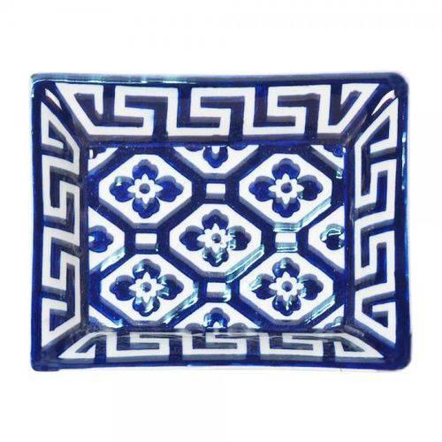 Prato de Porcelana Azul Escuro