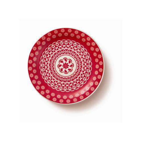 Prato de Sobremesa Cerâmica 20 Cm Floreal Renda - J069-6404 - Oxford - Oxf 412