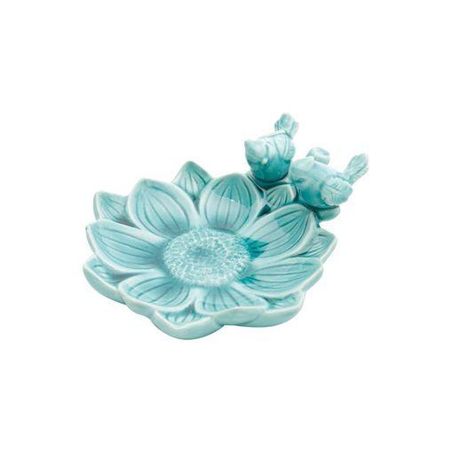 Prato Decorativo de Cerâmica Azul Flower 4164 Lyor