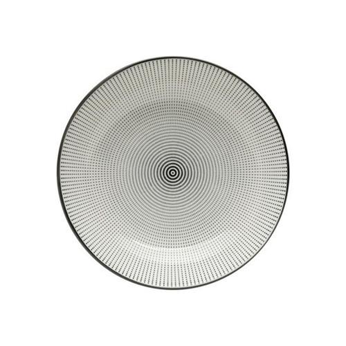 Prato Decorativo Dot Angles 20,4 Cm Preto e Branco