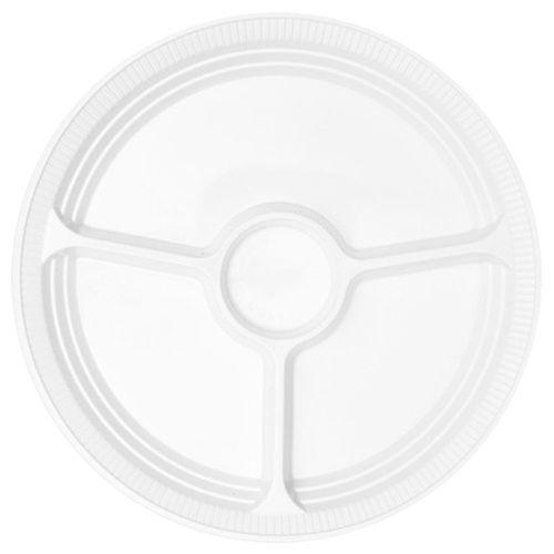 Prato Descartável 30cm Branco Copaza 10 Unidades 1013048