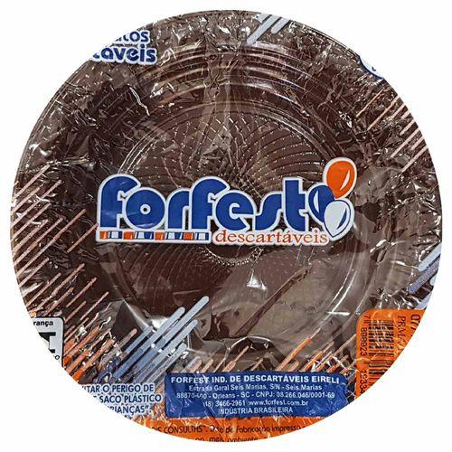 Prato Descartável 15cm Marrom Forfest 10 Unidades 1023355