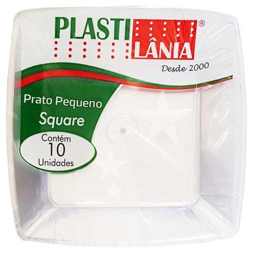 Prato Descartável 15cm Square Cristal Plastilânia 10 Unidades 1004138