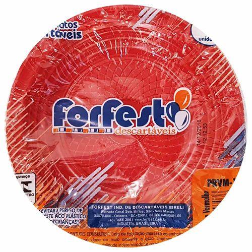 Prato Descartável 15cm Vermelho Forfest 10 Unidades 1021606