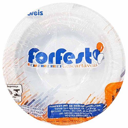 Prato Descartável 12cm Fundo Branco Forfest 10 Unidades 1021610
