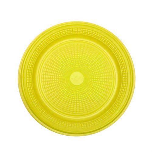 Prato Descartável Amarelo 15 Cm 10 Unidades