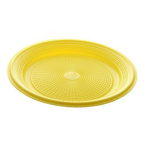 Prato Descartável Amarelo 15cm 10 Unidades