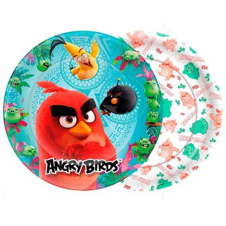 Prato Descartável Angry Birds - 08 Unidades