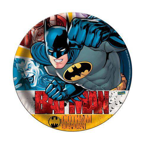 Prato Descartável Batman C/8 Unidades