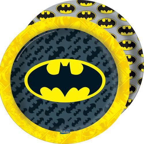 Prato Descartável Redondo Batman Geek C/8