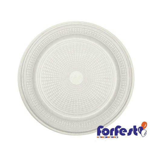 Prato Descartável Branco 15cm Forfest - 10 Unidades