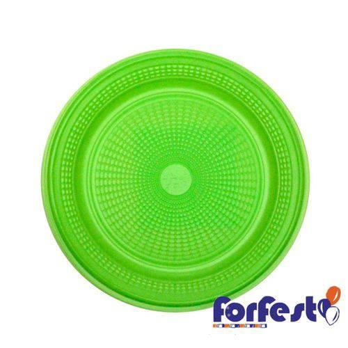 Prato Descartável Colorido 15cm Verde Claro Forfest - 10 Unidades