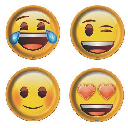 Prato Descartável Emoji 8un Festcolor