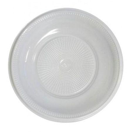 Prato Descartável Fundo 20cm Branco - 10 Unidades