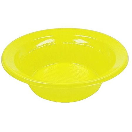 Prato Descartável Fundo 12cm Amarelo - 10 Unidades