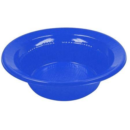 Prato Descartável Fundo 15cm Azul - 10 Unidades