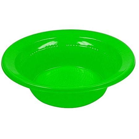 Prato Descartável Fundo 15cm Verde - 10 Unidades