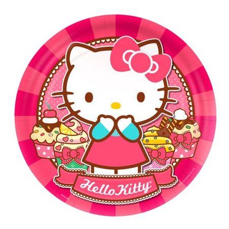 Prato Descartável Hello Kitty - 08 Unidades