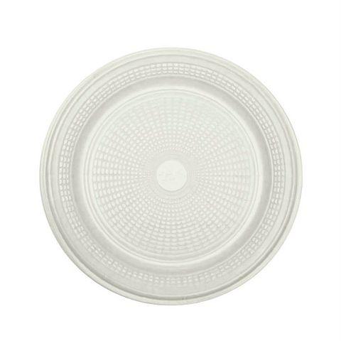 Prato Descartável para Bolo Branco 15cm C/10 - Trik Trik