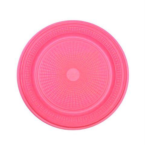 Prato Descartável para Bolo Rosa 15cm C/10 - Trik Trik