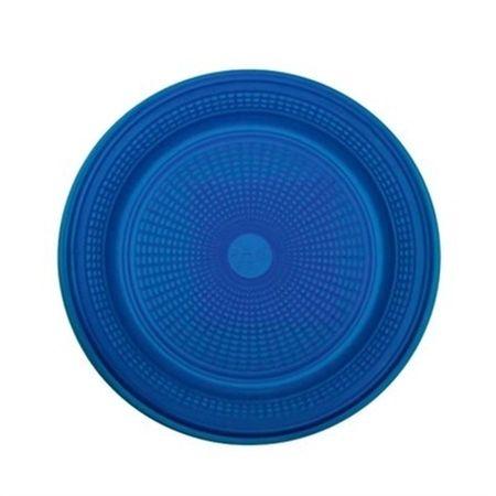 Prato Descartável Raso 15cm Azul Escuro - 10 Unidades