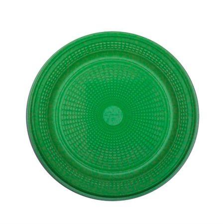 Prato Descartável Raso 15cm Verde Escuro - 10 Unidades