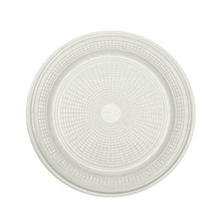 Prato Descartável Raso 18cm Branco - 10 Unidades
