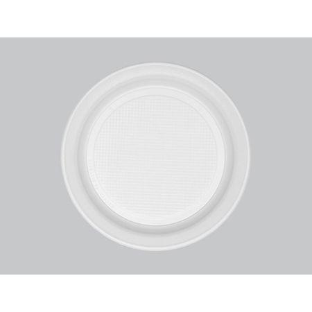 Prato Descartável Raso 18cm Branco Copaza - 10 Unidades