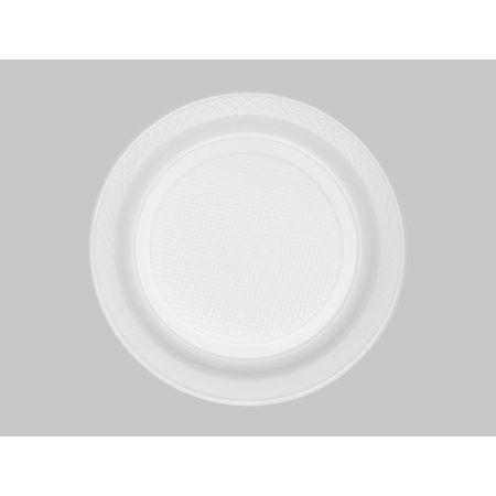 Prato Descartável Raso 21cm Branco Copaza - 10 Unidades
