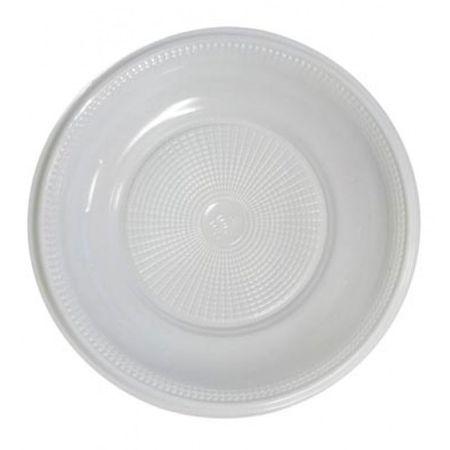 Prato Descartável Raso 25cm Branco - 10 Unidades