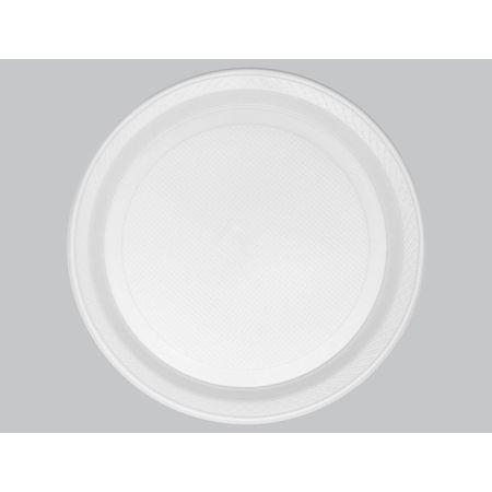 Prato Descartável Raso 26cm Branco Copaza - 10 Unidades